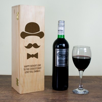 Men's Dad's Wine Box Gift Set