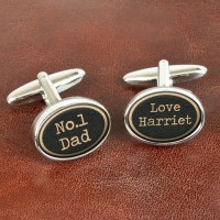 Personalised Vintage Style No1 Dad Cufflinks