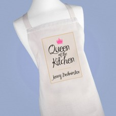 Women's Personalised Queen of the Kitchen Apron