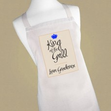 Men's Personalised 'King of the Grill' Apron